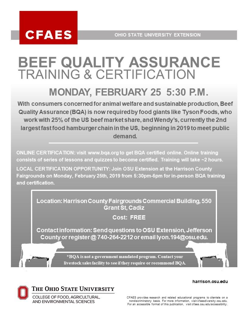 Beef Quality Assurance Training & Certification | Jefferson