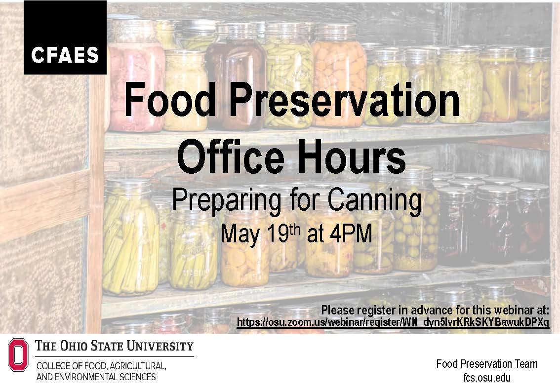 food preservation office hours