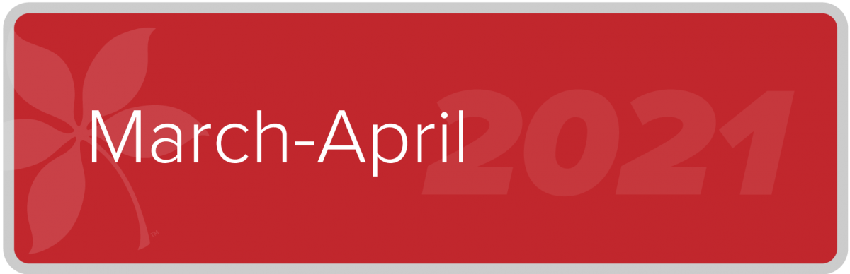 March April 2021 Newsletter button